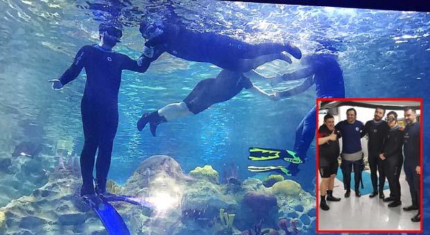 Dünya Down Sendromlular GününüSualtı Hayvanat Bahçesi'nde balıklar arasında kutladılar