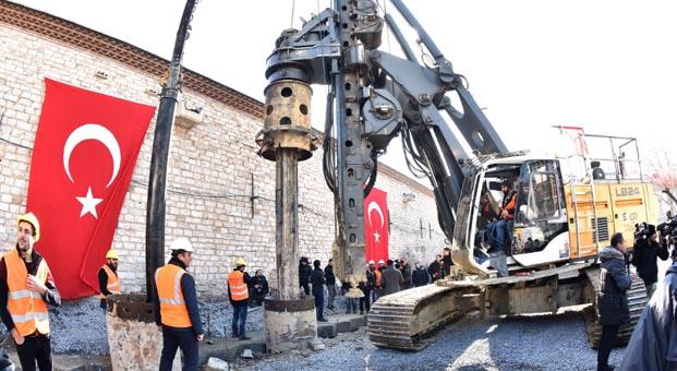 Taksim Camii inşaatı için ilk kazma vuruldu