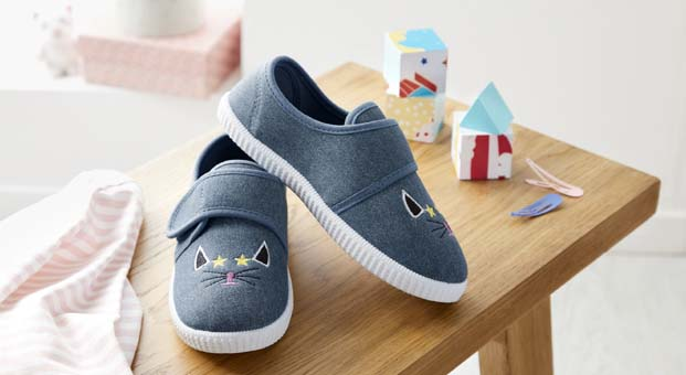 Minik ayaklar için Tchibo'dan sevimli ev ayakkabısı