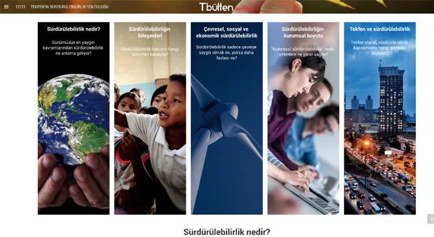 Tekfen'in kurumsal yayını TBülten e-dergi olarak online