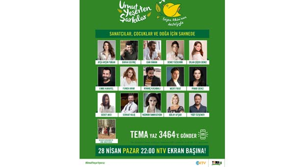 Sanatçılar TEMA Vakfı için Sezen Aksu şarkılarıyla sahnede