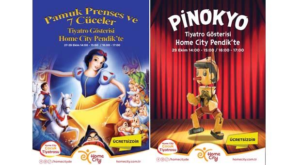 Home City Pendik Mobilya ve Dekorasyon Alışveriş Merkezi'nde çocuklara özel tiyatro gösterileri