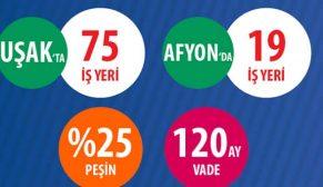 TOKİ Uşak ve Afyonkarahisar'da 94 iş yerini satışa sundu