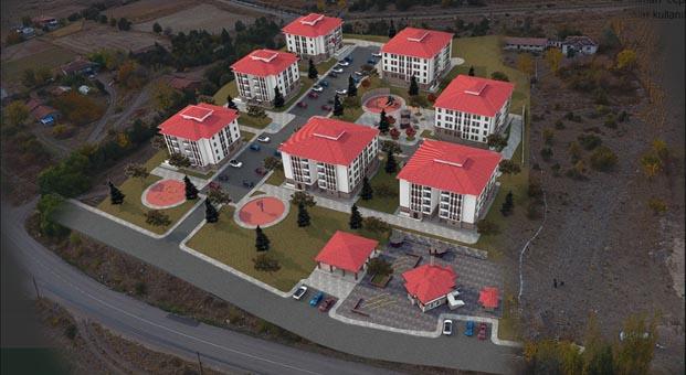 Amasya Göynücek'te inşa edilecek 110 konutun ihalesi yapıldı