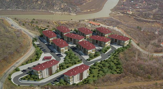 TOKİ'den Erzincan Kemaliye'ye 146 konut