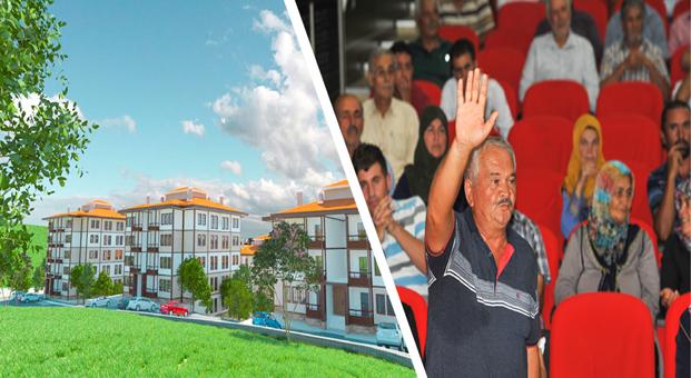 Kahramanmaraş Türkoğlu'nda 71 emeklinin konut belirleme kurası çekildi