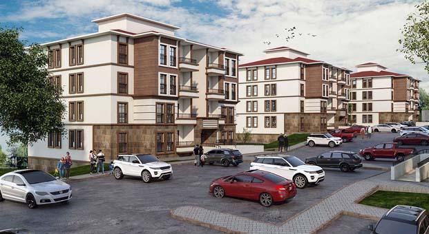 Burdur'a yatay mimari ile 385 konut