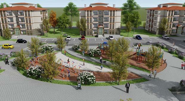 TOKİ'den Kırşehir Çiçekdağı'na yöresel mimaride 127 konut