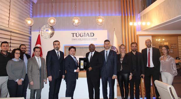 TÜGİAD Ankara Şubesi Cibuti Büyükelçisi Abdillahi'yi ağırladı