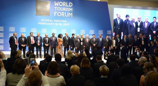 Turizmin Davos'u World Tourism Forum'un açılışı yapıldı
