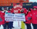 İlk Türk gezgin grubu Kuzey Kutbu'na bayrak dikti