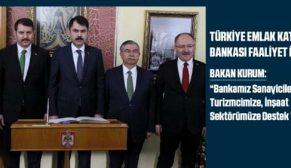 Murat Kurum, Emlak Katılım Bankası'nın faaliyete başlamasıyla ilgili açıklamada bulundu