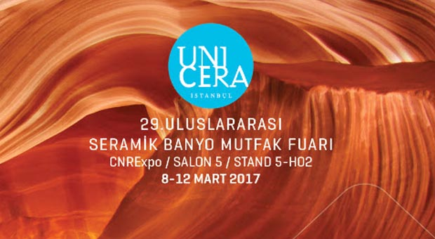 Yurtbay Seramik yeni ürünleri & Mega standıyla Unicera'da