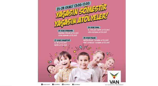 Yaratıcı çocuklar VAN AVM'de buluşuyor
