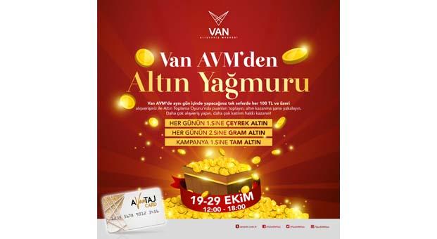 VAN AVM'den altın yağmuru