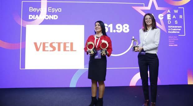 Vestel Müşteri Hizmetlerimüşteri memnuniyetinde altıncı kez büyük ödülü aldı