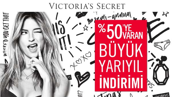 Victoria's Secret mağazalarında büyük yarıyıl indirimi başladı