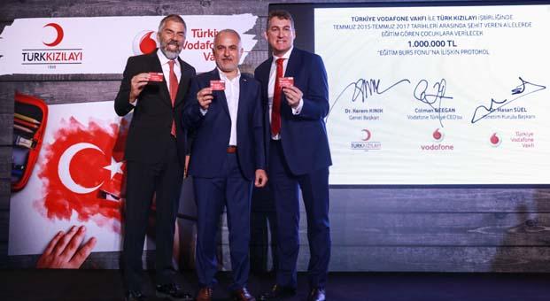 Türkiye Vodafone Vakfı eğitim destek fonunun ilk yarısını şehit ailelerine aktardı