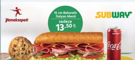 Yemeksepeti'nden leziz kampanya: Subway Baharatlı İtalyan Menü