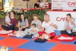 Anneler ve bebekler yoga ile keyifli bir sabaha merhaba dedi
