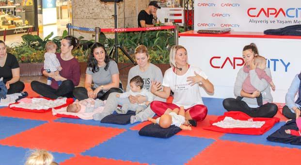 Capacity AVM'de Anne&Bebek Yogası ile keyifli bir gün