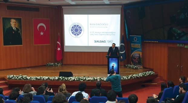 Y.T.Ü., Makine Mühendisliğine Giriş Dersi'nde Rebii Dağoğlu'nu ağırladı