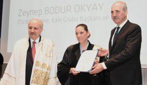 Zeynep Bodur Okyay'a İTÜ'den 'Fahri Doktor' unvanı